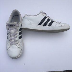 Adidas Neo white with black stripes